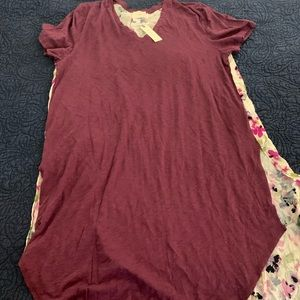 Anthropologie Maxi Scarf Tshirt, XL